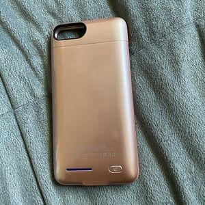 Rose gold charging phone case
